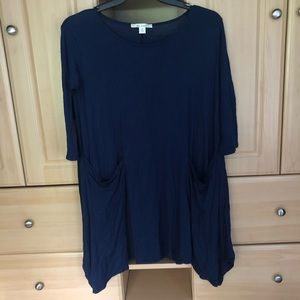 Francesca's Navy Pocket Dress